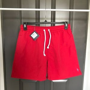 NWT tailorbyrd red swim suit trunks